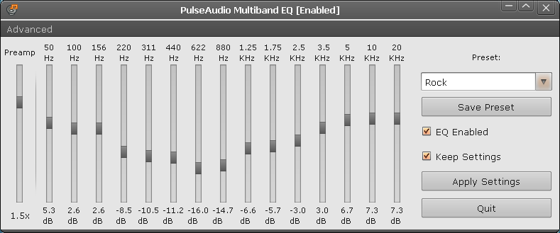 PulseAudio Multiband Equalizer