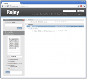Relay screenshot